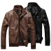 Male-leather-clothing-spring-and-autumn-motorcycle-fashion-jacket-slim-stand-collar-PU-designer-casacos