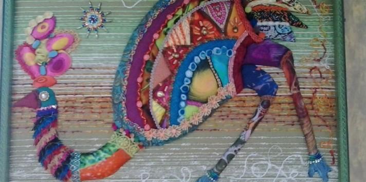 Картина из ткани